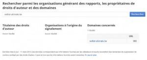 Recherche suppression lien_google
